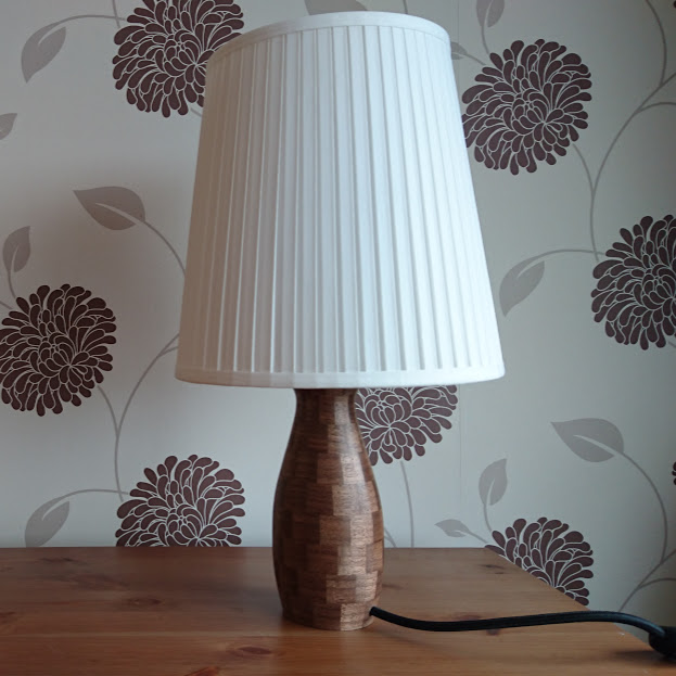 A Segmented Walnut Lamp