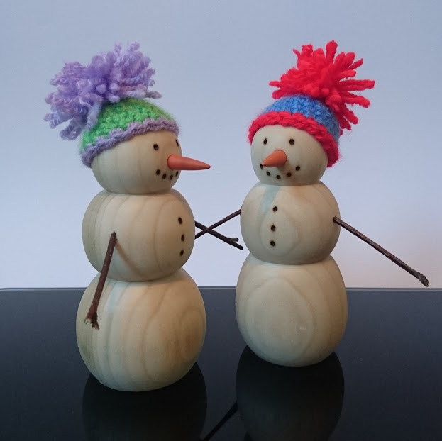 Woodturned snowmen! Complete with crocheted bobble hats, these will be making a return to the store in the run up to Christmas.