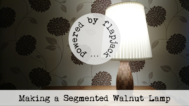 Making a Segmented Walnut Lamp